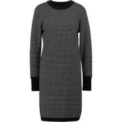 GStar ESTHOR JACQUARD  Sukienka dzianinowa dark black/ivory. Czarne sukienki dzianinowe marki G-Star, m. W wyprzedaży za 519,20 zł.