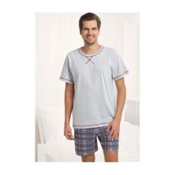 Piżamy męskie: Piżama Aaron 754 Szara