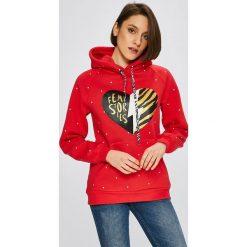Femi Stories - Bluza Glossi. Czerwone bluzy rozpinane damskie Femi Stories, l, z nadrukiem, z bawełny, z kapturem. W wyprzedaży za 239,90 zł.