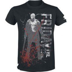 Friday The 13th Jason Machete T-Shirt czarny. Czarne t-shirty męskie Friday The 13th, s, z nadrukiem, z okrągłym kołnierzem. Za 79,90 zł.