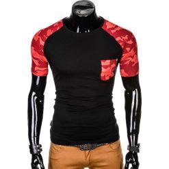 T-SHIRT MĘSKI Z NADRUKIEM MORO S1013 - CZARNY/CZERWONY. Czarne t-shirty męskie z nadrukiem Ombre Clothing, m. Za 35,00 zł.