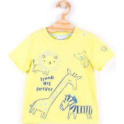 Coccodrillo - T-shirt dziecięcy 62-86 cm. Białe t-shirty chłopięce z nadrukiem marki COCCODRILLO, m, z bawełny, z okrągłym kołnierzem. Za 39,90 zł.