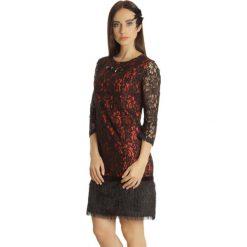 Sukienki hiszpanki: Sukienka w kolorze czerwono-czarnym