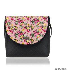 Torebki i plecaki damskie: TOREBKA PURO 1725 PINK FLOWERS