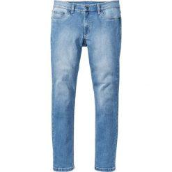 """Dżinsy ze stretchem Slim Fit Straight bonprix niebieski """"bleached used"""". Niebieskie rurki męskie marki bonprix, z jeansu. Za 59,99 zł."""