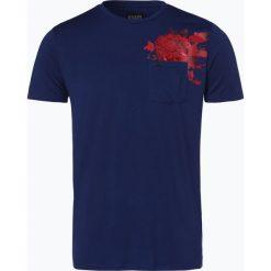 Guess Jeans - T-shirt męski, niebieski. Szare t-shirty męskie z nadrukiem marki Guess Jeans, l, z bawełny. Za 129,95 zł.
