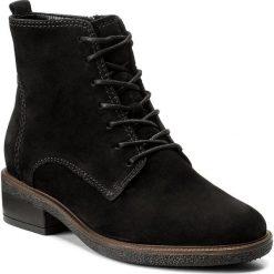 Botki GABOR - 72.775.47 Schwarz. Czarne buty zimowe damskie Gabor, z nubiku, na obcasie. W wyprzedaży za 359,00 zł.