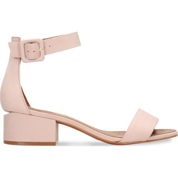 121538f4b711e Sandały ZINA - Różowe sandały damskie Gino Rossi, w paski, ze skóry ...