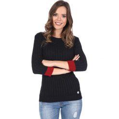 """Swetry klasyczne damskie: Sweter """"Spin"""" w kolorze granatowym"""