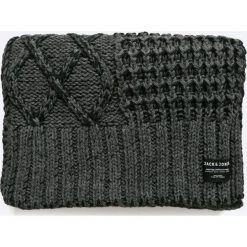 Jack & Jones - Szalik. Czarne szaliki męskie marki Jack & Jones, l, z bawełny, z okrągłym kołnierzem. W wyprzedaży za 69,90 zł.