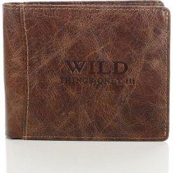 Portfele męskie: Skórzany portfel męski Wild things Only brązowy