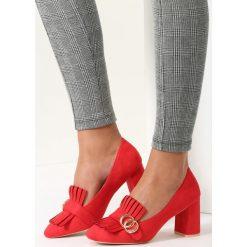 Buty ślubne damskie: Czerwone Czółenka Argyle