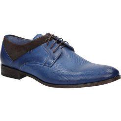 Niebieskie buty wizytowe skórzane sznurowane niebieski palony DUO MEN 01718E-06-C-P-010. Niebieskie buty wizytowe męskie Duo Men, na sznurówki. Za 238,99 zł.