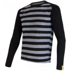 Odzież termoaktywna męska: Sensor Bluzka Merino Wool Active M Black Stripes S