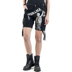 Metallica EMP Signature Collection Krótkie spodenki damskie czarny. Czarne szorty damskie z printem marki bonprix. Za 144,90 zł.