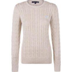 Sweter w kolorze beżowym. Brązowe swetry klasyczne damskie marki Giorgio di Mare, xs, z dzianiny, z okrągłym kołnierzem. W wyprzedaży za 173,95 zł.