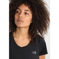 The North Face AMBITION DAYGLO YELLOW Tshirt basic black. Różowe topy sportowe damskie marki The North Face, m, z nadrukiem, z bawełny. Za 169,00 zł.