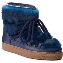 Buty INUIKII - Sneaker 70202-9 Rabbit D'Blue. Niebieskie buty zimowe damskie Inuikii, ze skóry, na niskim obcasie. Za 1409,00 zł.