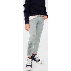 Mango Kids - Jeansy dziecięce Patri 110-164 cm. Szare jeansy dziewczęce Mango Kids, z bawełny. W wyprzedaży za 39,90 zł.