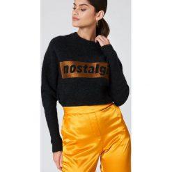 Swetry klasyczne damskie: Samsoe & Samsoe Sweter Morgan – Black