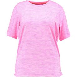 Topy sportowe damskie: Raiski MILLY R+ Tshirt basic neon pink melange
