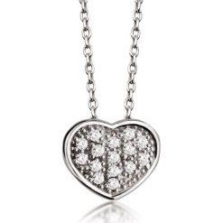 Wisiorki damskie: PROMOCJA Białe Złoto Wisiorek – złoto białe 585, Diament 0,08ct