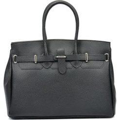 Torebki i plecaki damskie: Skórzana torebka w kolorze czarnym – (S)28 x (W)37 x (G)17 cm