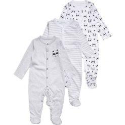 Mothercare UNISEX PANDA SLEEPSUIT BABY 3 PACK  Piżama black/white. Niebieskie bielizna chłopięca marki mothercare, z bawełny. Za 129,00 zł.