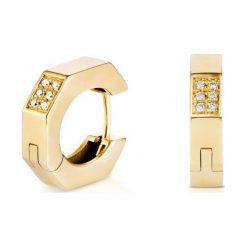 Kolczyki damskie: PROMOCJA Kolczyki Złote – złoto żółte 585, Brylant 0,40ct