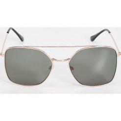 Okulary przeciwsłoneczne damskie aviatory: Okulary przeciwsłoneczne – Khaki
