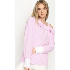 Różowa Bluzka Open Shoulder. Czerwone bluzki damskie Born2be, m, z długim rękawem. Za 49,99 zł.