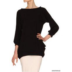 Bluzki asymetryczne: Bluzka czarna YY500119_RAL9005