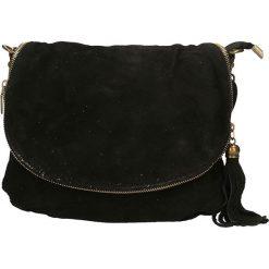 Torebki klasyczne damskie: Skórzana torebka w kolorze czarnym – 30 x 20 x 3 cm
