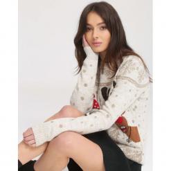 Beżowy Sweter Rightly. Brązowe swetry klasyczne damskie marki other, l, z dresówki, z okrągłym kołnierzem. Za 89,99 zł.