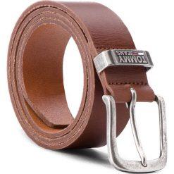 Pasek Męski TOMMY JEANS - Tjm Metal Loop Belt AM0AM03491 90 206. Brązowe paski męskie Tommy Jeans, w paski, z jeansu. W wyprzedaży za 179,00 zł.