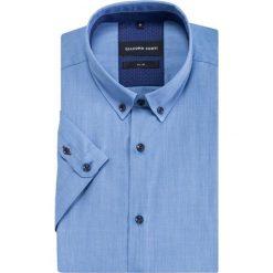 Koszula SIMONE KKNS000017. Czarne koszule męskie slim marki TOM TAILOR DENIM, l, z bawełny, button down, z długim rękawem. Za 199,00 zł.