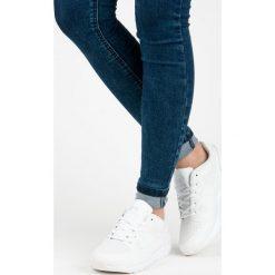 Buty sportowe damskie: BIAŁE OBUWIE SPORTOWE DAMSKIE – biały