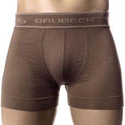 Majtki męskie: Brubeck Bokserki męskie Comfort Cotton brązowe r. S (BX00501)