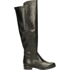 Kozaki ocieplane - 274004FY P NE. Czarne buty zimowe damskie marki Kazar, ze skóry, na wysokim obcasie. Za 329,00 zł.