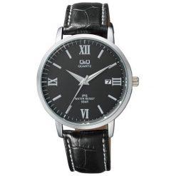 Zegarek Q&Q Męski Klasyczny QZ06-308 z datownikiem czarny. Czarne zegarki męskie Q&Q. Za 134,00 zł.