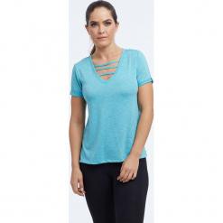 """Koszulka """"Riley"""" w kolorze turkusowym. Niebieskie t-shirty damskie BALANCE COLLECTION, xs. W wyprzedaży za 65,95 zł."""