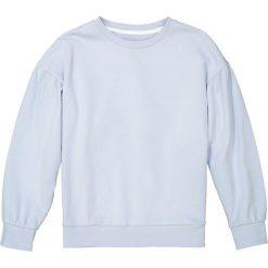 Bluza z moltonu z bufiastymi rękawami 10-16 lat. Niebieskie bluzy dziewczęce rozpinane La Redoute Collections, z bawełny, z długim rękawem, długie. Za 88,16 zł.