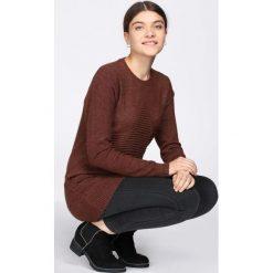 Brązowy Sweter All Round. Brązowe swetry klasyczne damskie marki Born2be, na jesień, xl. Za 39,99 zł.