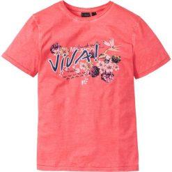 T-shirty męskie: T-shirt Slim Fit bonprix koralowy