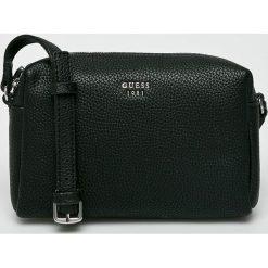 Guess Jeans - Torebka Flora. Czarne torebki klasyczne damskie Guess Jeans, z jeansu. Za 349,90 zł.