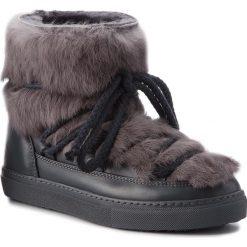 Buty INUIKII - Sneaker 70202-9 Rabbit Grey. Szare buty zimowe damskie Inuikii, ze skóry, na niskim obcasie. Za 1409,00 zł.