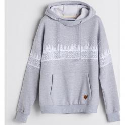 Bluza z motywem zimowym - Jasny szar. Szare bluzy męskie rozpinane Reserved, l. Za 139,99 zł.
