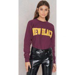 Bluzy damskie: New Black Bluza Campus – Purple