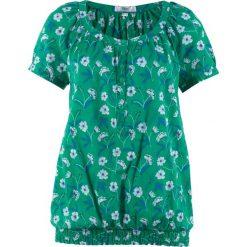 Bluzka, krótki rękaw bonprix zielony miętowy. Zielone bluzki damskie bonprix, z krótkim rękawem. Za 37,99 zł.