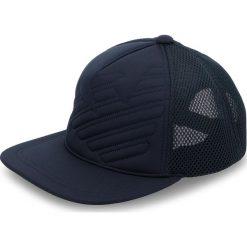 Czapka z daszkiem EMPORIO ARMANI - 627506 8A556 00035 Blue. Szare czapki z daszkiem męskie marki Emporio Armani, l, z nadrukiem, z bawełny, z okrągłym kołnierzem. W wyprzedaży za 219,00 zł.